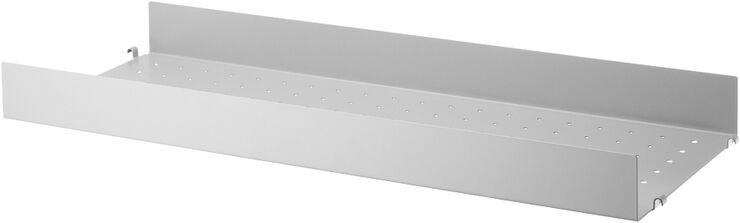 String Metal Shelf High Edge, grey, 78x30cm, 1-p