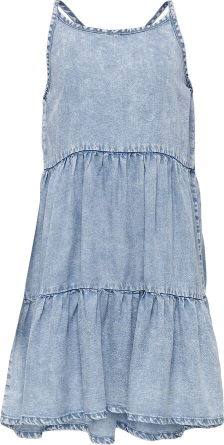 KONCARLY LIGHT ACID WASH DNM DRESS