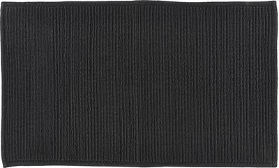 Bademåtte 50x80 Plissé black