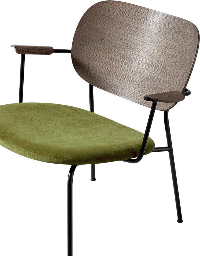 Co Chair LC, Black Base/Dark Stained Oak/City Velvet CA7832/031