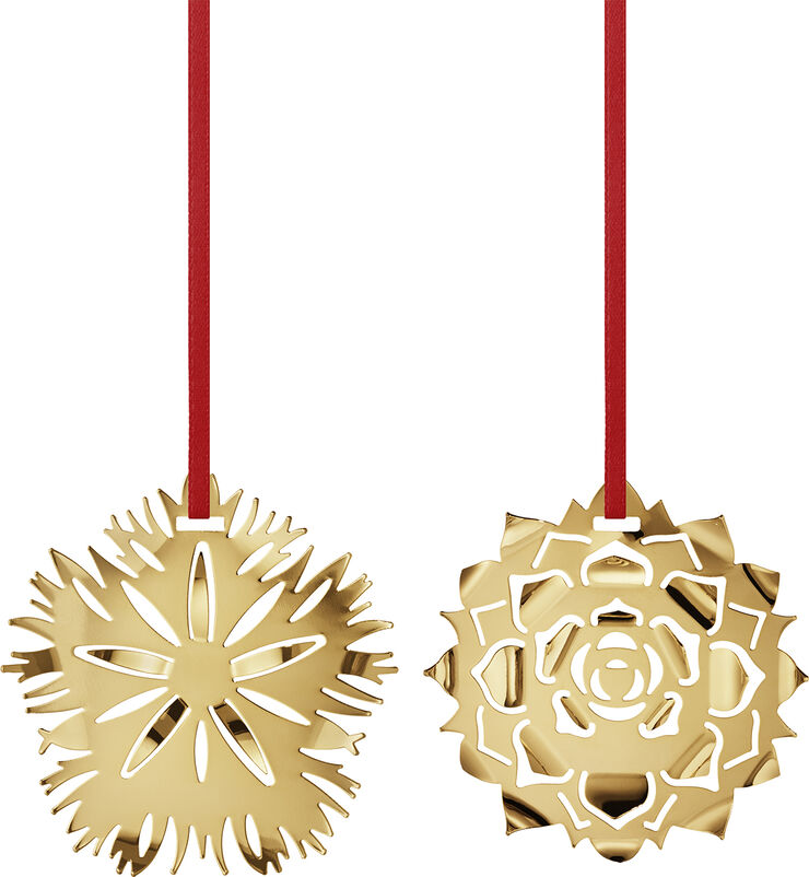 CC 2020 HOLIDAY ORNAMENT ICE DIANTHUS & ROSETTE  GO
