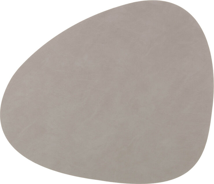 TABLE MAT CURVE L (37x44cm) NUPO light grey
