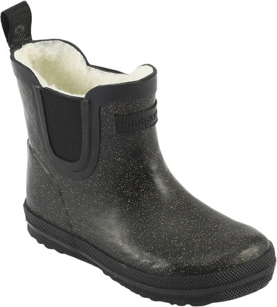 Short Warm Glitter Rubber Boot
