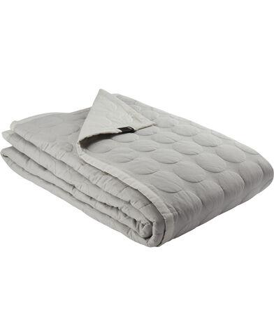 Mega Dot 260x260 sengetæppe grå