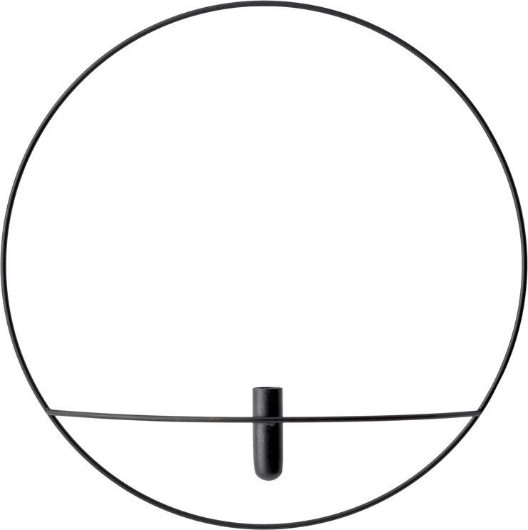 POV Circle, Vase, L, Black