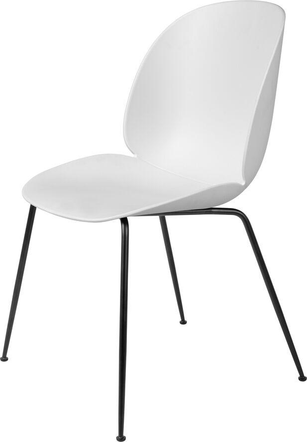 Beetle Dining Chair - Un-Upholstered, Conic base Black Matt