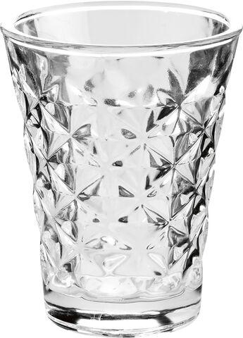 Facet fyrfadsglas 10 cm.