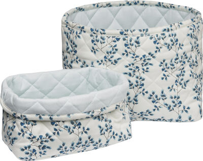 Quilted Storage Basket - Set of Two - Fiori