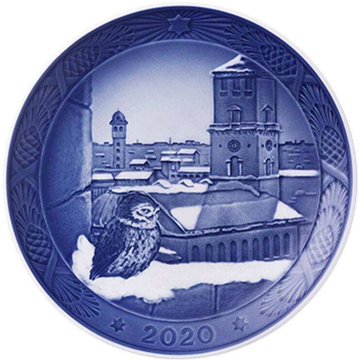 Royal Copenhagen samlerartikler 2020 - Juleplatte: Vor Frue Kirke