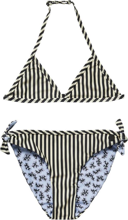Reversible bikini with contrast bin