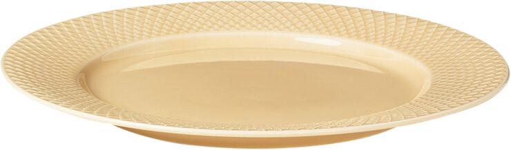 Rhombe Middagstallerken Ø27 cm sand porcelæn