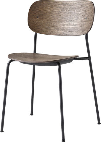 Co Chair Dining Chair, Dark Stained Oak/Black Steel Base