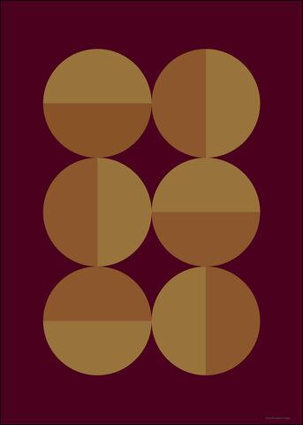 Figure Shape 11 Bordeaux Red A3
