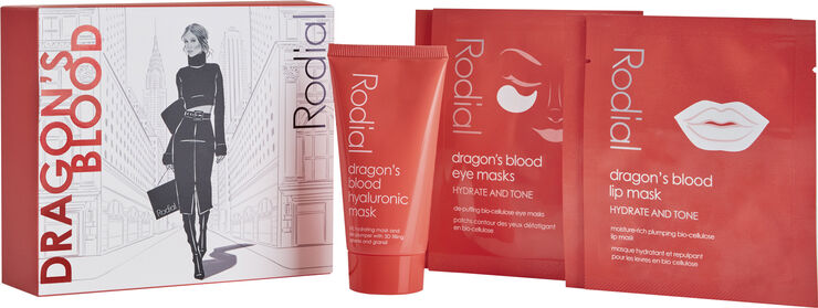 Dragon's Blood Moisture Boost julegaveæske 50 ml + 4 masks