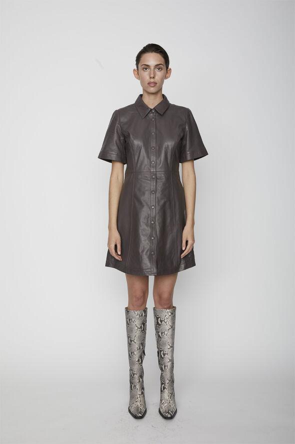Fall leather dress