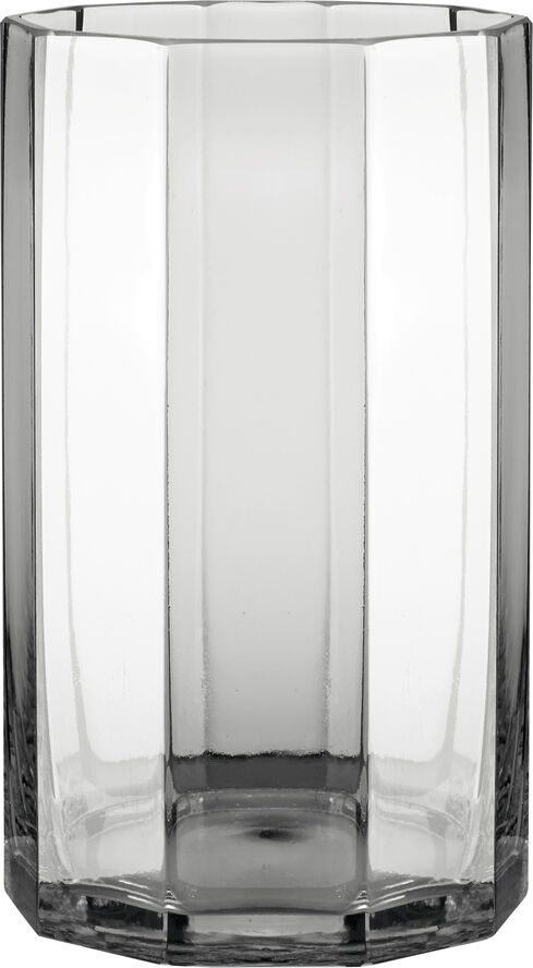 Plisse glasvase dia 18xH30 cm klar