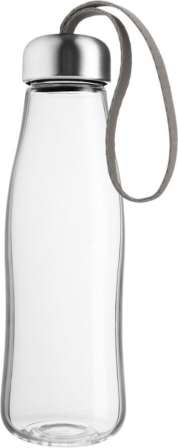 Glasdrikkeflaske 0,5l Taupe