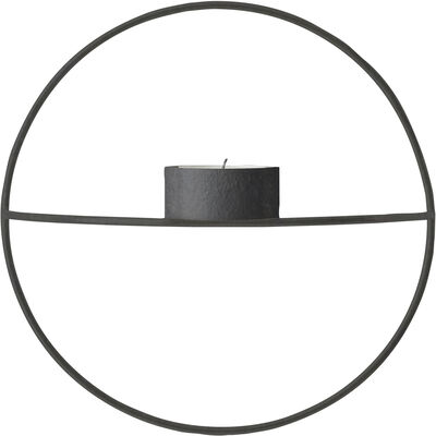 POV Circle, Tealight Candleholder, S, Black