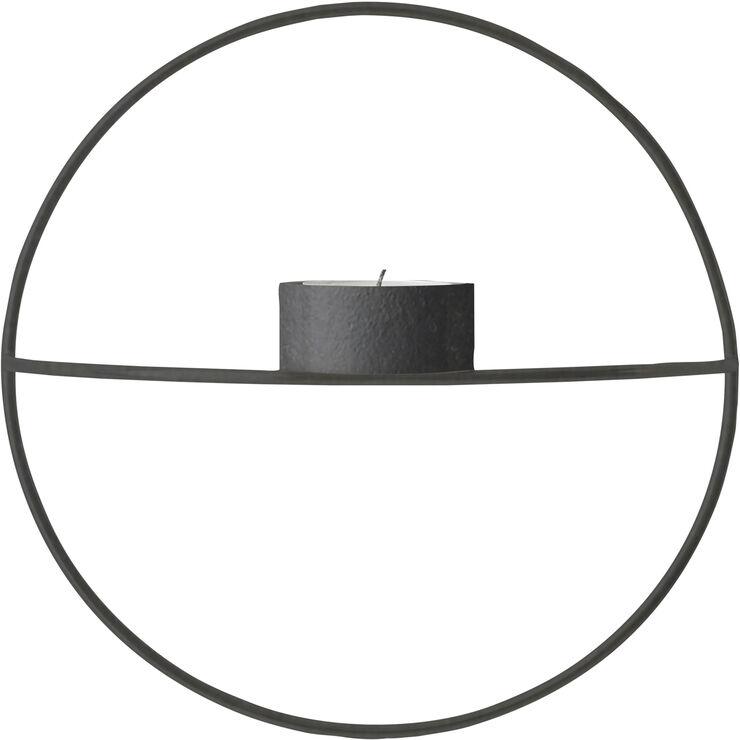POV Circle, Tealight Candleholder, S, Black