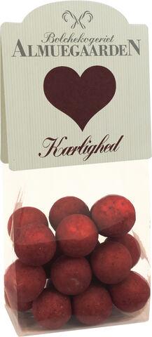 Chokolade-lakridser med hindbær (hjerte-anledningskort)