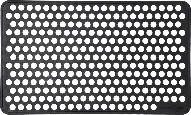Dørmåtte i gummi 45x75 cm.