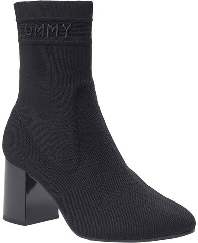 TOMMY KNIT MID HEEL BOOT