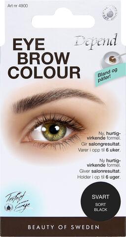 Eyebrow colour Black