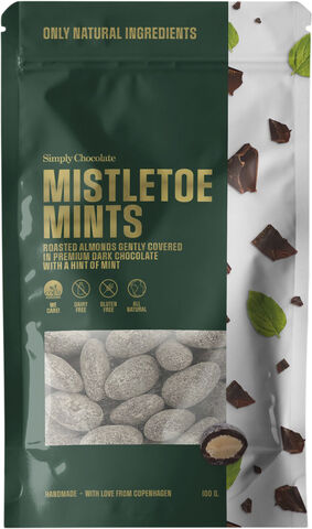 Mistletoe Mints, To go bag (Almonds with mint, 100 g)