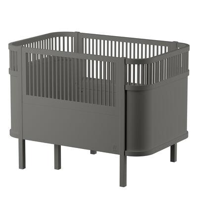 Sebra sengen, baby & jr., mørk grå