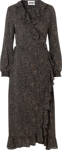 Imogene maxi wrap dress