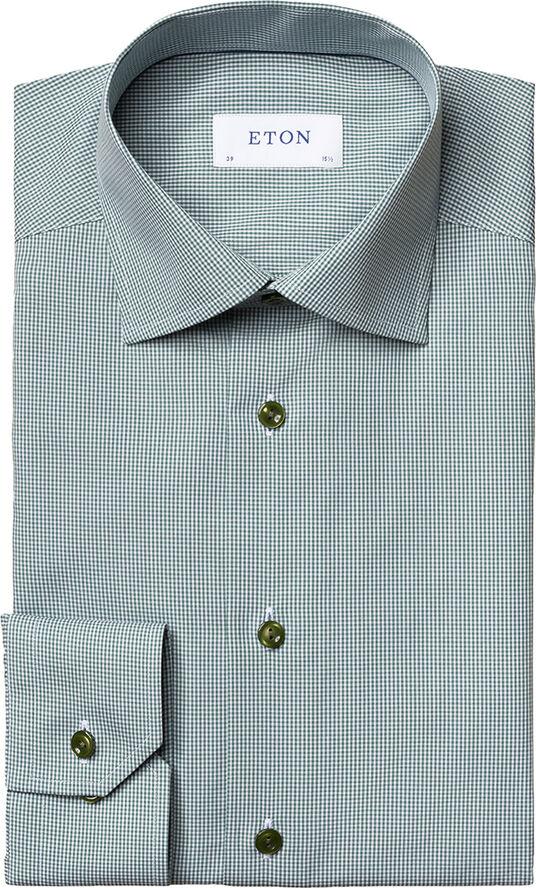 Mini gingham poplin shirt Contemporary fit