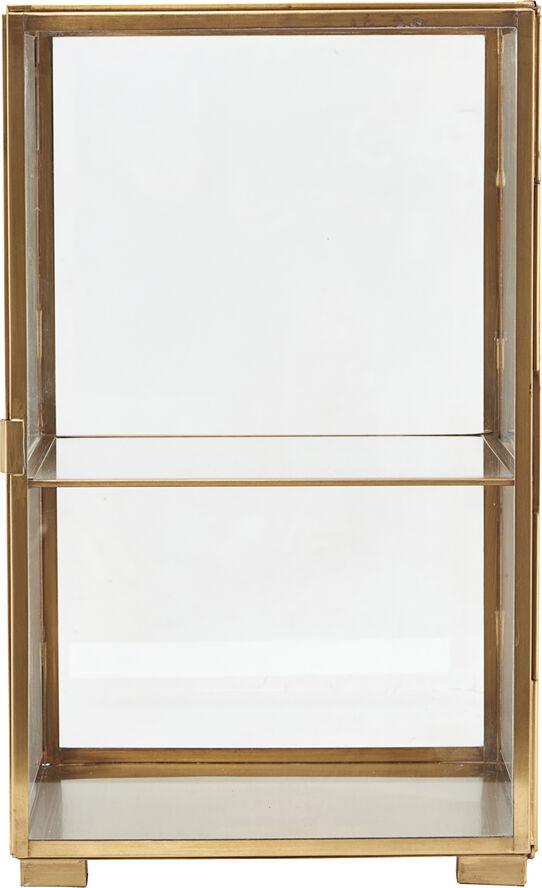 Kabinet, Messing, l: 25 cm, b: 25 cm,h: 41 cm