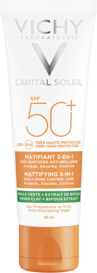 Capital Soleil Mattifying 3-in-1 solcreme ansigt SPF50+