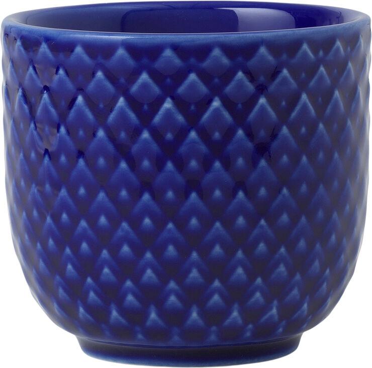 Rhombe Color Æggebæger Ø5 cm mørk blå porcelæn