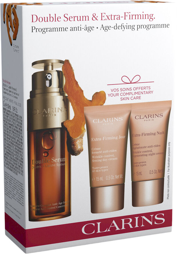 CLARINS Value Pack Double serum 50ml, ex firm day 15ml, ex firm night