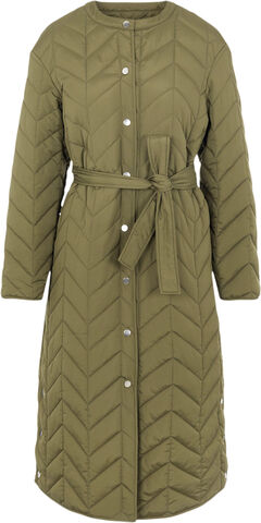 PCFAWN LONG QUILTED JACKET