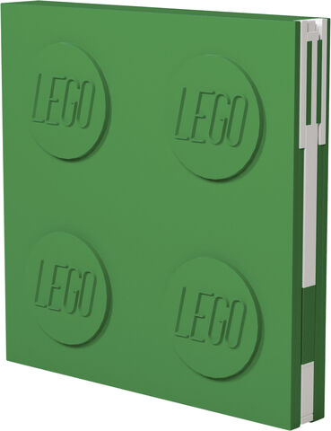 Locking note book, GREEN with gel pen