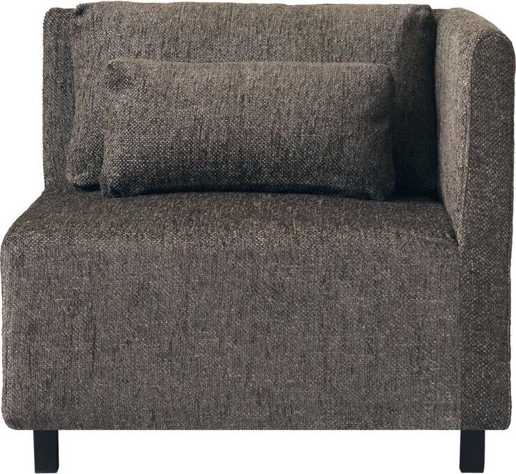 Sofa, Hjørnesektion, Mørkebrun, Camphor