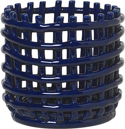 Ceramic Basket - Small - Blue