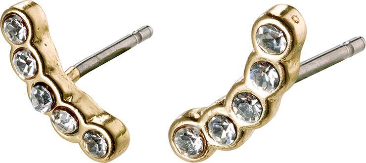 Øreringe, anita, guldbelagt, krystal