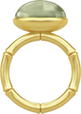 Bamboo Wisdom Ring 56 - Gold/Green