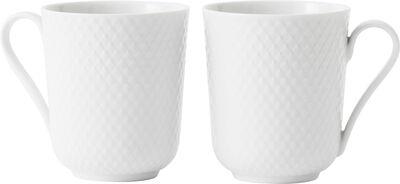 Rhombe mug 33cl, white 2 stk.