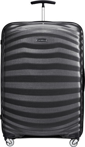Lite-Shock Large 4 wheel Suitcase 75cm BLACK