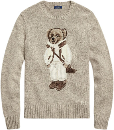 Shearling Polo Bear Wool-Blend Sweater