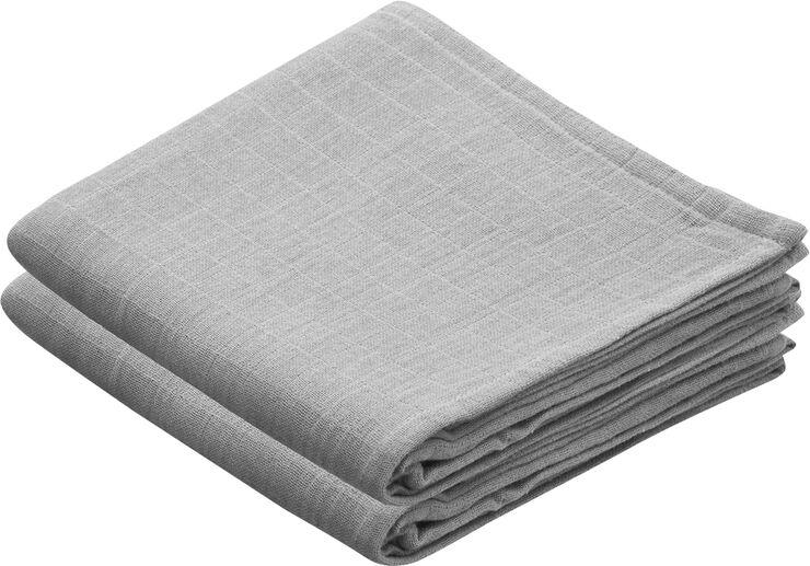 Muslin Cloth 2 Pack - Grey