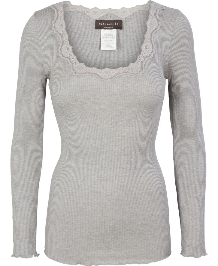 Silk t-shirt regular ls w/rev vinta