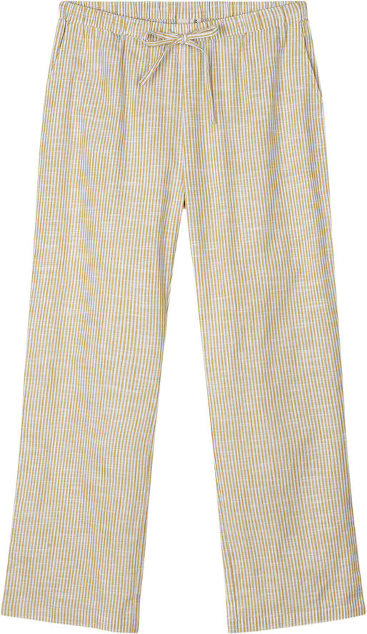 Monochrome Lines Barbara pants okker/hvid S/M