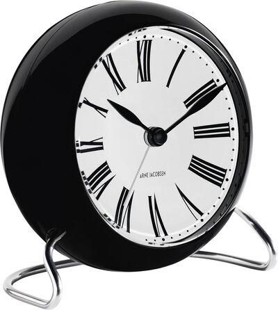 AJ Roman bordur, sort/hvid, Ø 11 cm, alarm