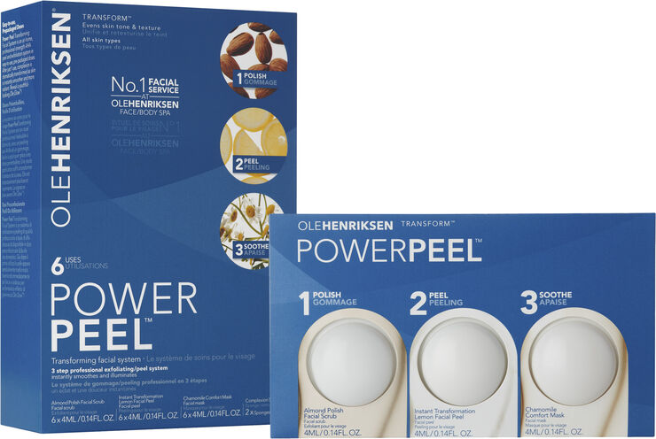 Power Peel Transforming Facial System (6Pk) 54 ml.