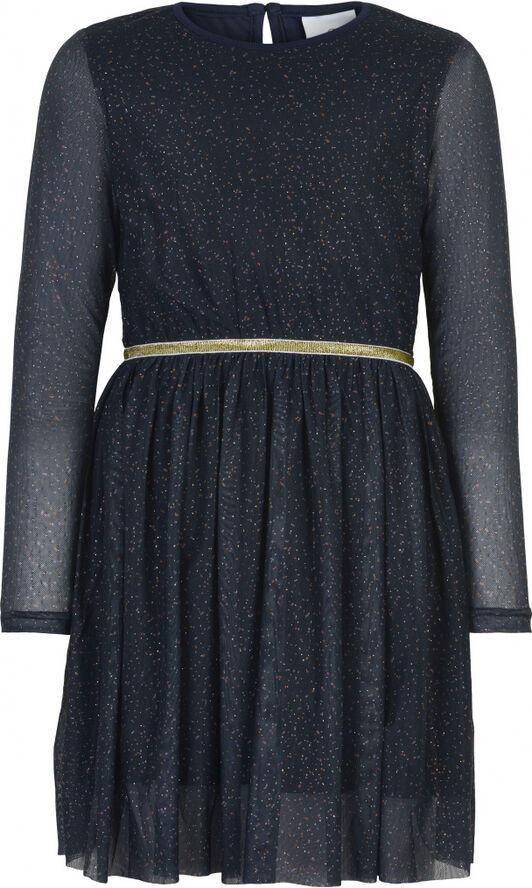 ANNA SYBIL MESH L_S DRESS